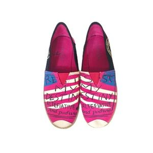Resist My Destiny Graphic Espadrilles size 10